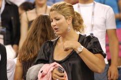 292 przyjaciela Federer jest mirka vavrinec dziewczyny Zdjęcia Stock