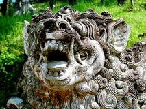 狮子雕象 免版税图库摄影