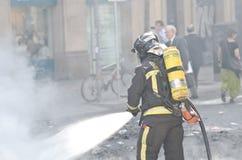 29M - Barcelonaburning Stockbild