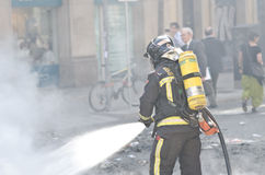 29M - Burning de Barcelone Image stock