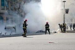 29M - Burning di Barcellona Fotografia Stock Libera da Diritti