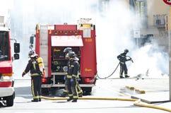 29M - Burning di Barcellona Fotografia Stock