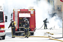 29M - het branden van Barcelona Stock Fotografie