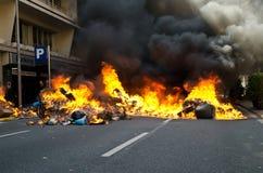 29M - het branden van Barcelona Stock Foto's