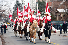 29no Desfile anual de Weston Papá Noel Imagenes de archivo