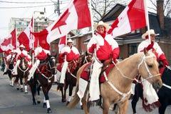 29th Annual Weston Santa Claus Parade. The Canadian Cowgirls at the Santa Claus parade.  They are an award winning, elite-rodeo-style precision drill team Stock Image