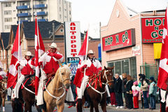29th Annual Weston Santa Claus Parade. The Canadian Cowgirls at the Santa Claus parade.  They are an award winning, elite-rodeo-style precision drill team Stock Images
