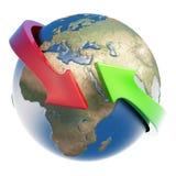 2arrows地球 图库摄影