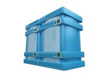 2b 3d蓝色服务器 皇族释放例证