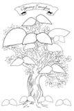 2bn albero genealogico Zdjęcie Royalty Free