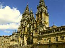 2个大教堂compostela de圣地亚哥西班牙 免版税库存图片