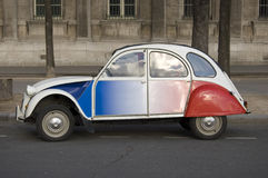 2cv citroen paris Royaltyfri Foto