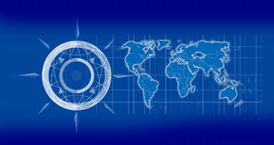2d карта земли Стоковая Фотография RF