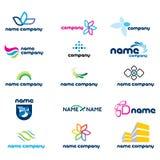 2d комплект иконы логоса Стоковая Фотография