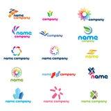 2d комплект иконы логоса Стоковые Фотографии RF