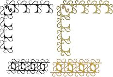 2d and 3d scrolls on white. 2d and 3d set of design scrolls on white Stock Photography