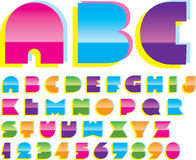 2d alphabet. Trendy  design Royalty Free Stock Photo
