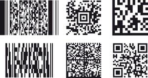 2D Códigos de barras Foto de Stock Royalty Free