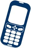 2D Cell Phone. A vector illustration of a 2D cell phone isolated over a white background Stock Photography