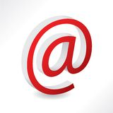2d email alias. Icon in red color Stock Images