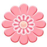 2D flor cor-de-rosa Fotografia de Stock