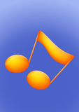 2d golden Music Note Royalty Free Stock Image