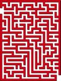 2D labirinto Imagem de Stock