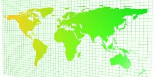 2D mapa de mundo Fotografia de Stock Royalty Free