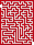 2D maze. Find the way out from this maze Stock Image