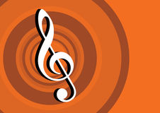2d Music Note. In circle background Stock Photos