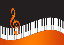2d Music Note background. 2d Music note in gradient background Royalty Free Stock Photography
