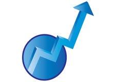 2d Pfeilhimmelton - Vektor Lizenzfreies Stockfoto