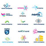 2d positionnement de graphisme de logo illustration stock