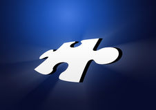 2d Puzzle piece retro Royalty Free Stock Photos