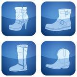 2d set skor för koboltsymboler s square kvinnan Royaltyfri Fotografi