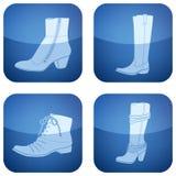 2d set skor för koboltsymboler s square kvinnan Royaltyfria Foton