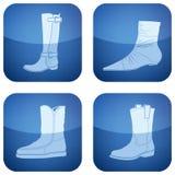 2d set skor för koboltsymboler s square kvinnan Arkivfoton