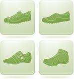 2d set skor för symbolsolivine s square kvinnan Arkivfoto