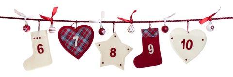 2da parte del calendario del advenimiento Foto de archivo libre de regalías