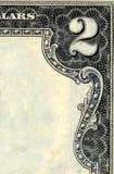 2dollar票据角落 库存图片