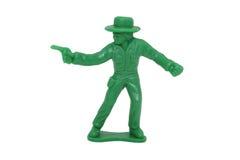 2mp 8牛仔绿色图象玩具 免版税库存照片