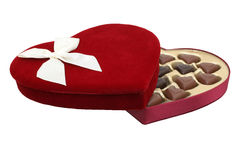 2mp 8 czekolady pudełkowate śliwek serca ścieżką kształtującą obraz Zdjęcia Stock