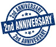 Free 2nd Anniversary Stamp Royalty Free Stock Image - 122423156