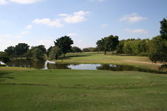 2nd hole. Picture of the second hole at Hans Merensky Golf Estate stock images