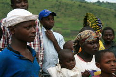 2nd Nov 2008. Refugees from DR Congo royalty free stock photography