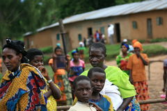2nd Nov 2008. Refugees from DR Congo Stock Photos