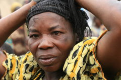 2nd Nov 2008. Refugee from DR Congo Royalty Free Stock Photos