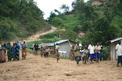 2nd Nov 2008. Refugees from DR Congo Royalty Free Stock Photos