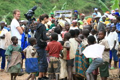 2nd Nov 2008. Refugees from DR Congo Royalty Free Stock Images