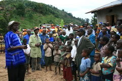 2nd Nov 2008. Refugees from DR Congo Stock Photography